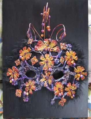 Masks imade with Friendly Plastic Pellets and Alcohol Inks