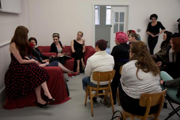 The feminism & burlesque session at BurlyCamp