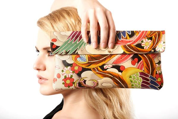 Tovi Sorga tattoo print clutch bag