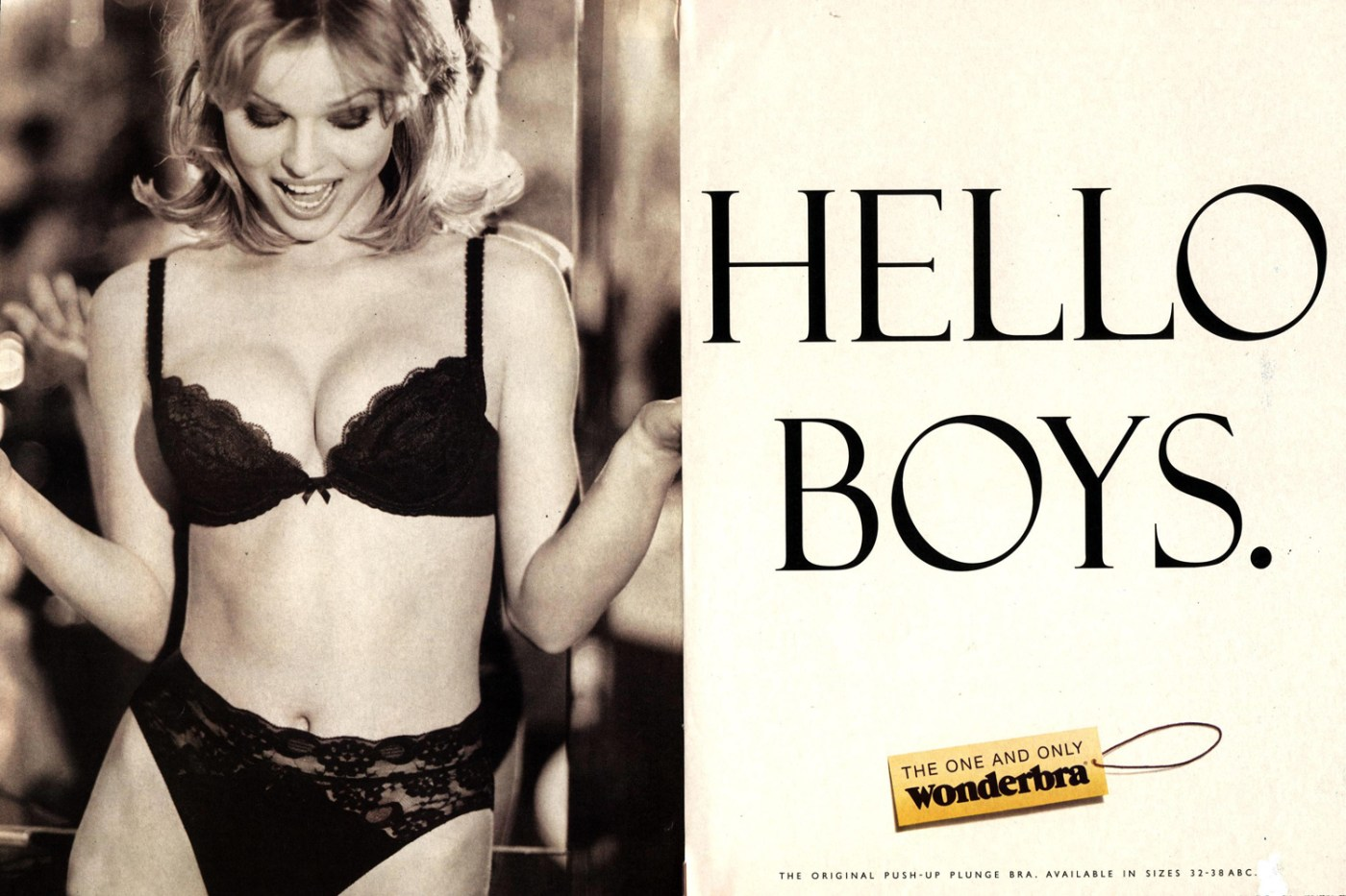 The infamous Wonderbra advert from 1994