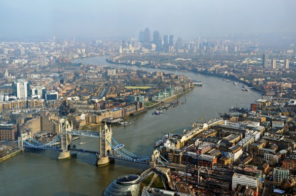 The Thames from the Shard, via DncnH's Flickr photostream