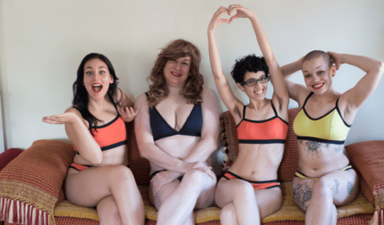 Image from Neon Moon's beautiful inclusive lingerie photoshoot