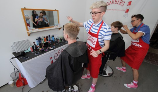 The team at Open Barbers