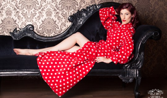 Betty Blues 'Bettie' fleece robe