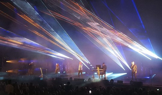 Pet Shop Boys at the 2017 Henley Festival. Photo by Fiona Beckley