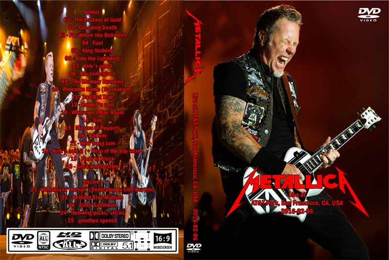 metallica at t park san francisco 2016 dvd rare rock dvds. Black Bedroom Furniture Sets. Home Design Ideas