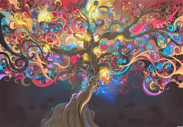 Tree Trippy Psychedelic Art