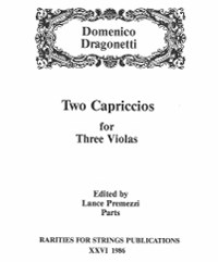 Dragonetti, Domenico (Premezzi)Two Capriccios for Three Violas (Parts) (PDF Download)