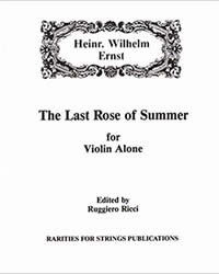 Ernst, H.W. (Ricci)The Last Rose of Summer for Violin Solo (PDF Download)