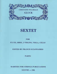 Gluck, Christoph W. (Sciannameo)Sextet in G Major for Flute, Oboe & Strings(Parts)