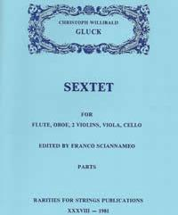 Gluck, Christoph W. (Sciannameo)Sextet in G Major for Flute, Oboe & Strings(Parts)(PDF Download)