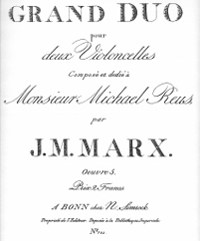 Marx, J.M.Grand Duo for Two Cellos