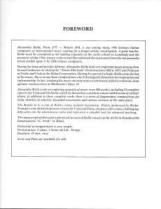 Rolla, Alessandro - Rondo in G for Viola & Piano - Foreword