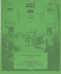 Rolla, Alessandro (Sciannameo)Trio for Two Clarinets & Viola