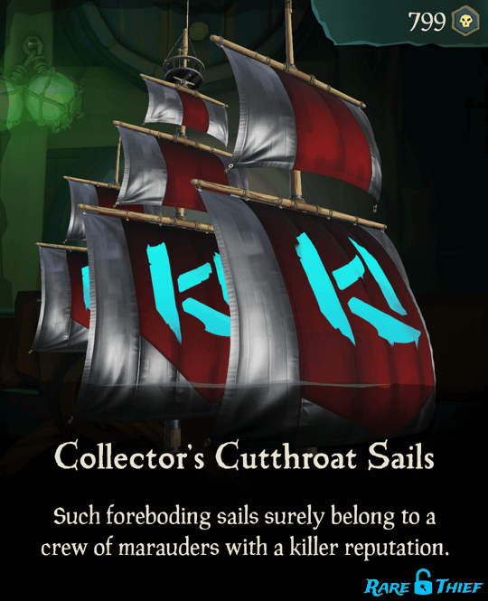 Collector's Cutthroat Sails