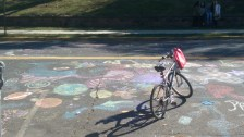 Chalk Drawings in front of Zimmerli Art Museum