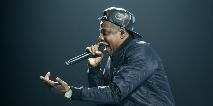 ST. PAUL, MN - NOVEMBER 30:  Jay Z performs at Xcel Energy Center on November 30, 2013 in St. Paul, Minnesota. (Photo by Adam Bettcher/Getty Images)