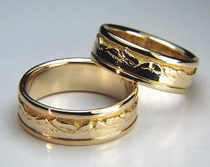 Custom wedding rings and wedding bands in platinum 18kt