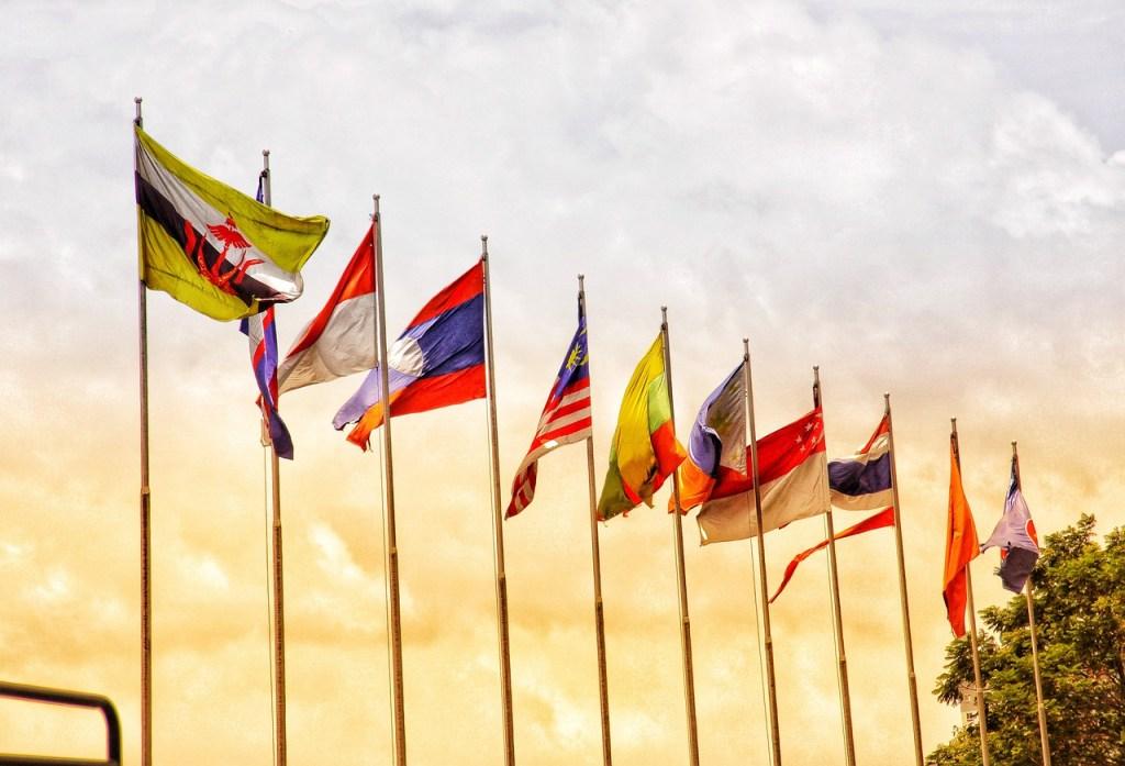 Flags ASEAN