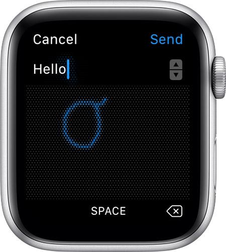 Apple Watch 手書きからテキスト変換