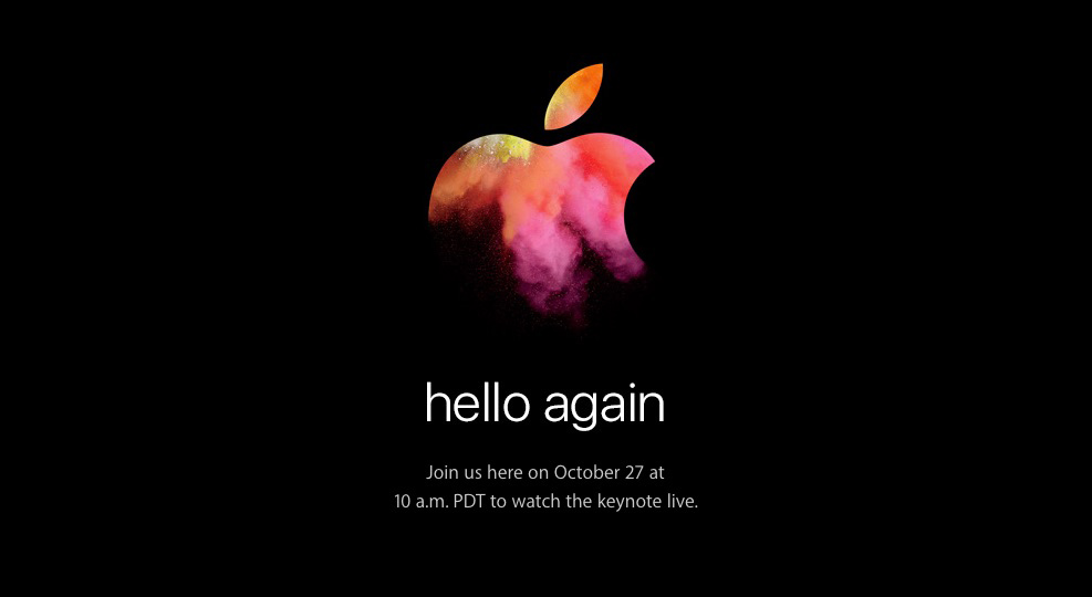 10月27日 Apple Special Event