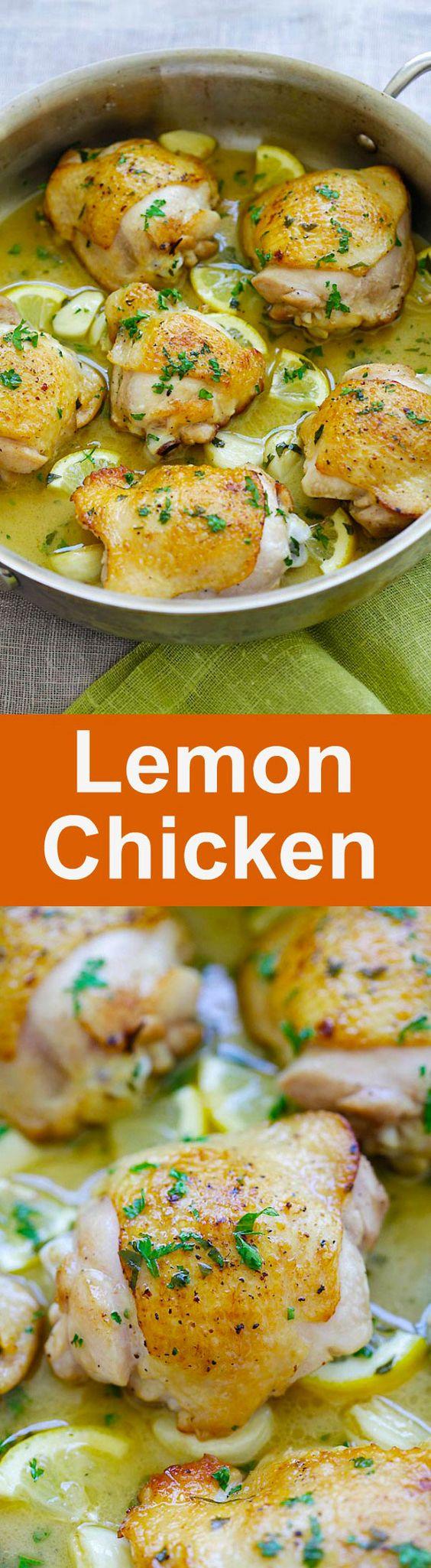 Skillet Lemon Chicken  Easy Delicious Recipes
