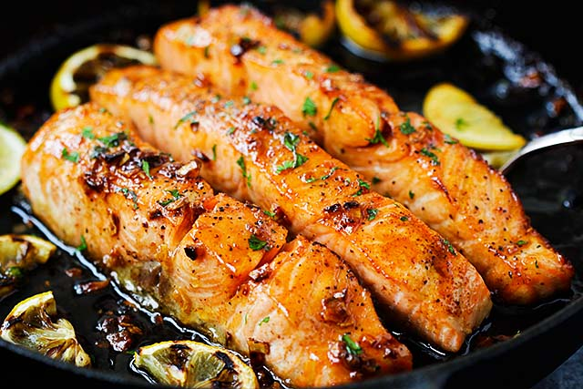 Salmon with honey garlic sauce is one of the best salmon recipes.