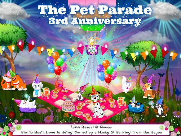 Pet Parade 3rd anniversary giveaway pet blog hop pawty