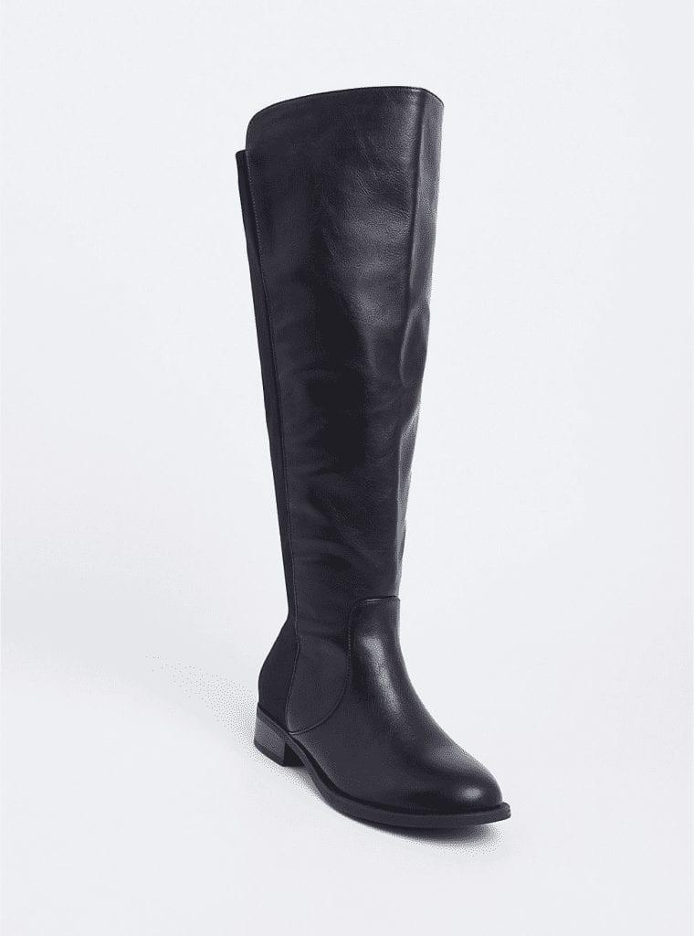 Torrid Black Flat Over The Knee Boots