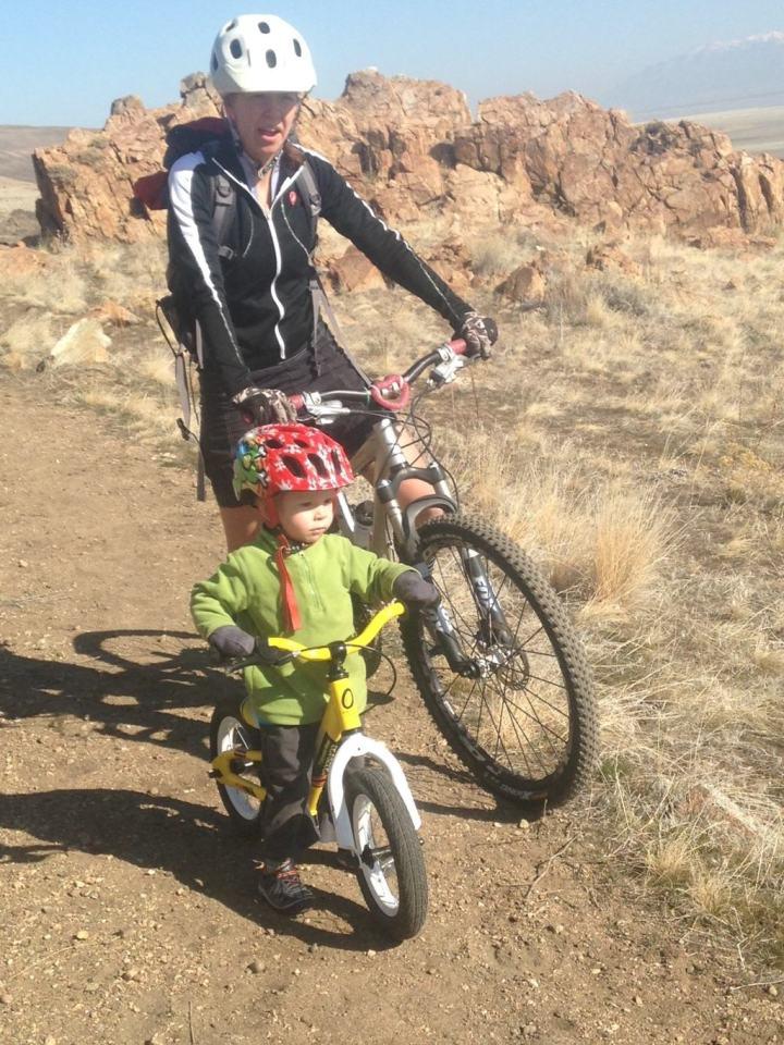 Biking with child
