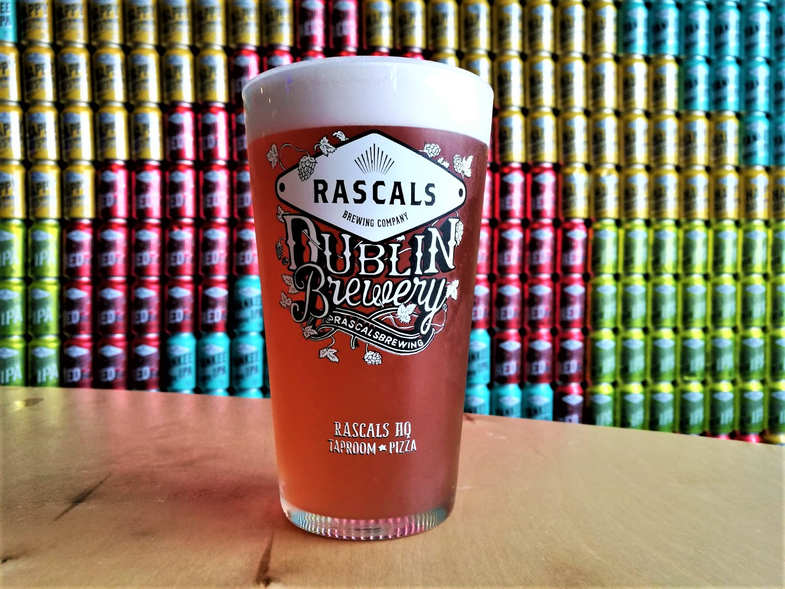 A pint of fresh Irish craft beer from Rascals Brewing Company