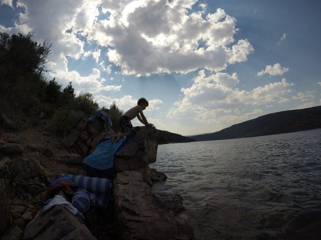 Swimming at Flaming Gorge