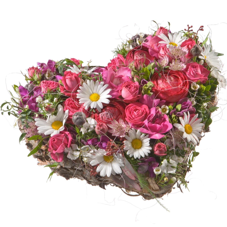Blumengesteck Herzblatt
