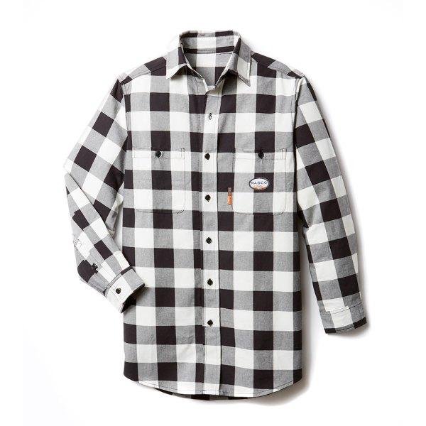 Rasco Fr Black & White Plaid Shirt