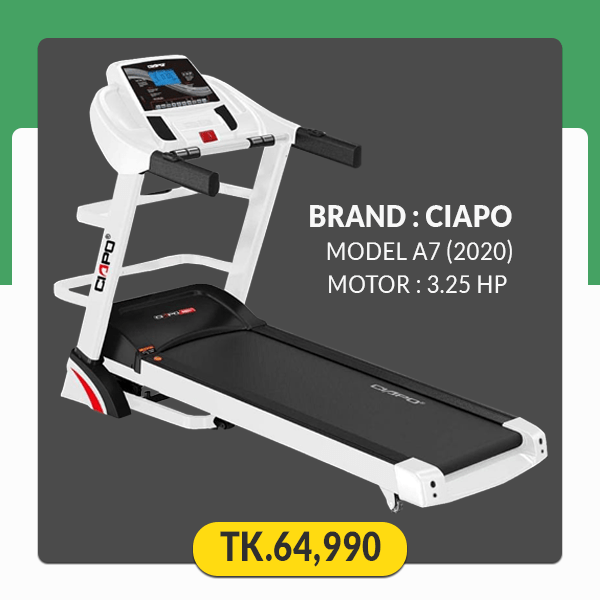 Ciapo A7 Foldable Motorized Android Treadmill-WiFi & YouTube supported