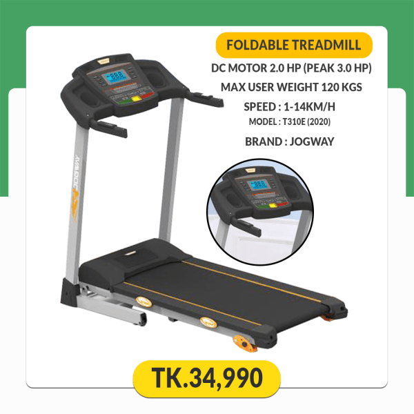 JOGWAY (T310E DC 2.0 HP) Foldable Motorized Treadmill