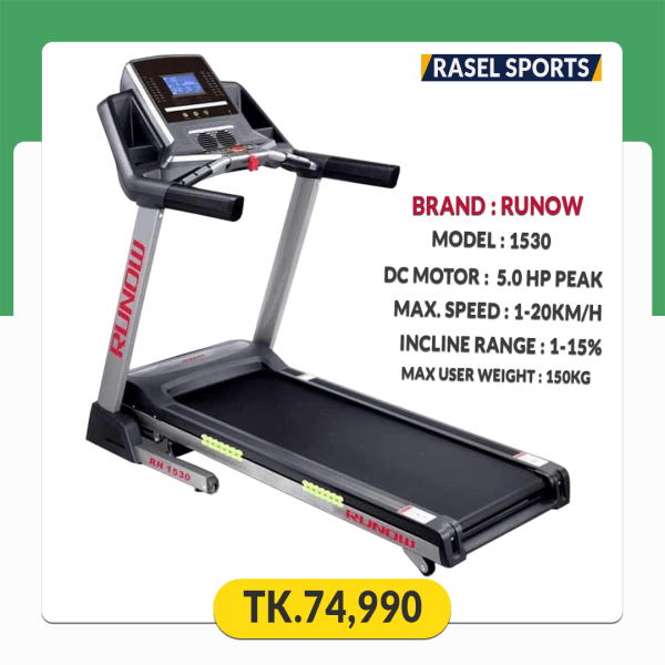 Runow 5HP Peak Motorized Treadmill RN 1530