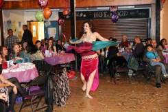 Rachael entertains party guests