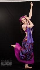 Oxford bellydancer Rasha Nour in purple 8