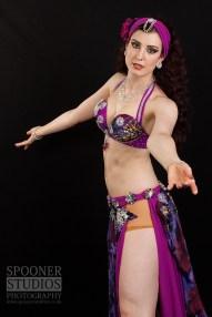 Oxford bellydancer Rasha Nour in purple 4