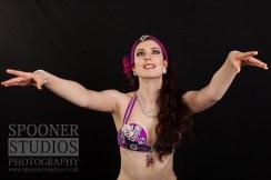 Oxford bellydancer Rasha Nour in purple 12
