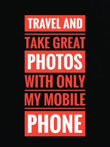 Mobile photography on vacation