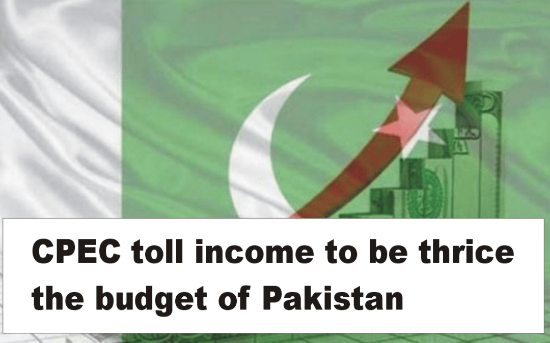 CPEC toll income to be thrice the budget of Pakistan: BoI