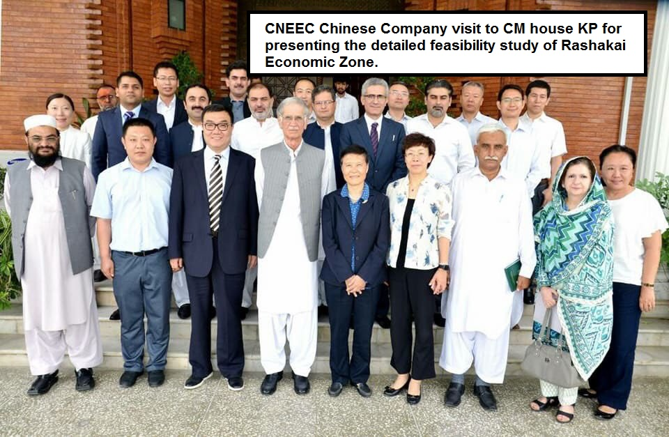 CNEEC Chinese Company visit to CM house KP for presenting the detailed feasibility study of Rashakai Economic Zone