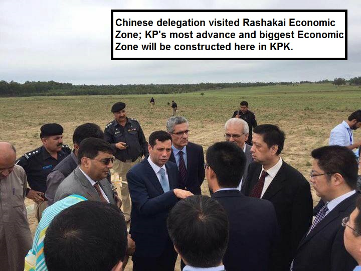 Chinese delegation visited Rashakai Economic Zone; KP's most advance and biggest Economic Zone will be constructed here in KPK 2