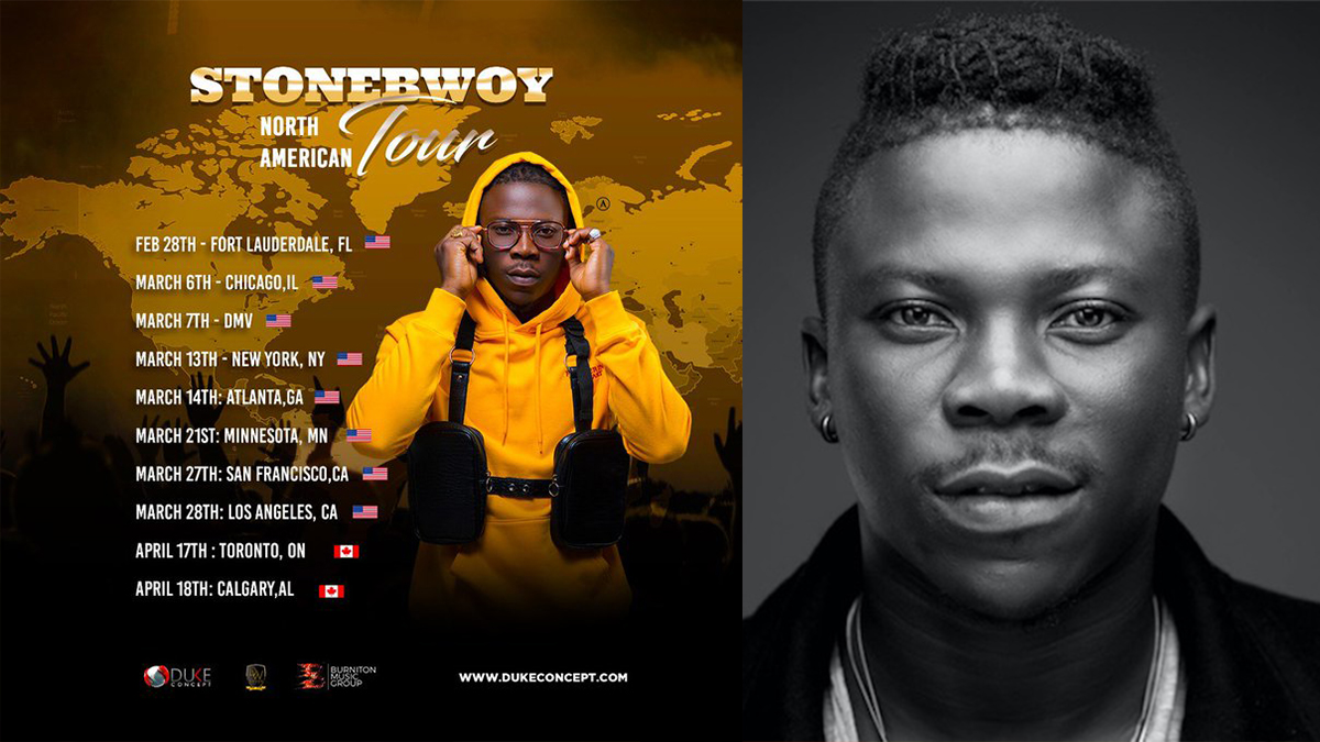 Stonebwoy Announces 2020 Tour Dates and Cities