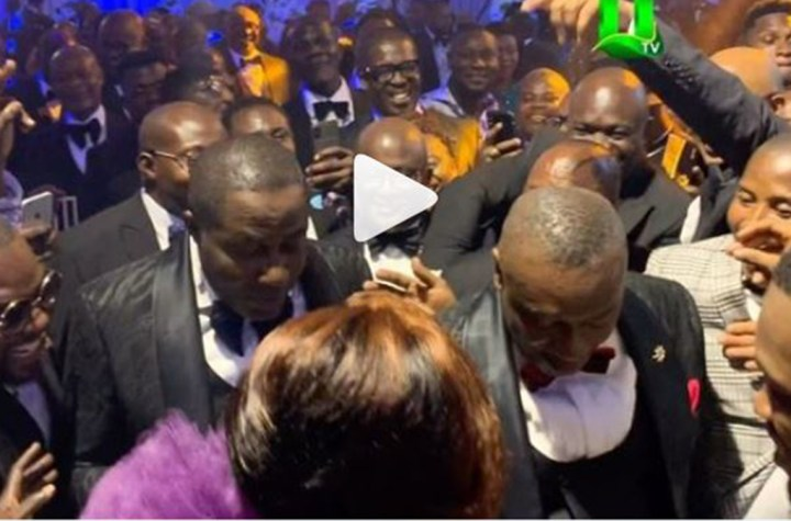 Dr. Osei Kwame Despite and Brother Dr. Ofori Sarpong Display Their Dance Skills At Their Son, Kennedy's Wedding Reception