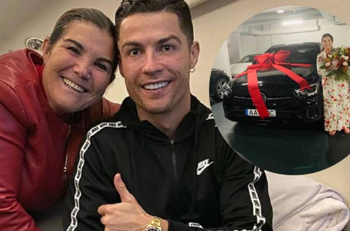 Cristiano Ronaldo Buys Mum a New Mercedes On Mother's Day