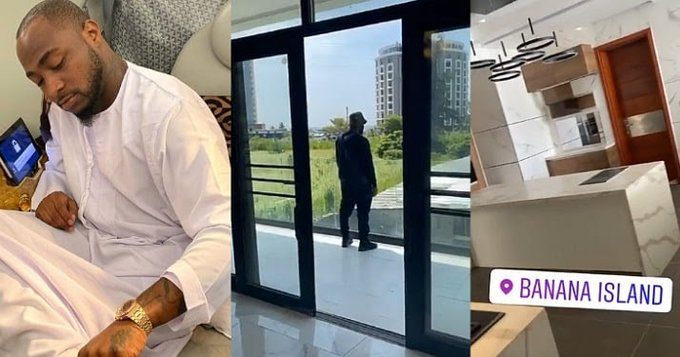 Davido shows off the interiors of his newly purchased Banana Island mansion (video)