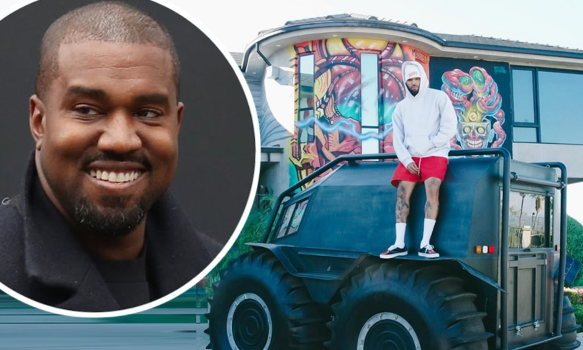 Kanye West Gifts Chris Brown A Massive YEEZY Truck